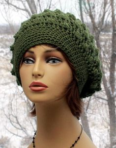 Check out this item in my Etsy shop https://www.etsy.com/listing/559545203/womens-crochet-hat-unique-slouchy-beanie