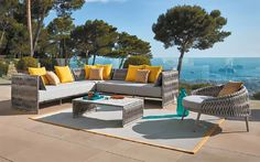Cali Aluminum Sectional Outdoor Sofas & Lounge Chairs