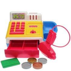 Fisher-Price - 1997 - Cash Register 72412 Cash Register, Fisher Price, Nintendo Consoles, Point Of Purchase