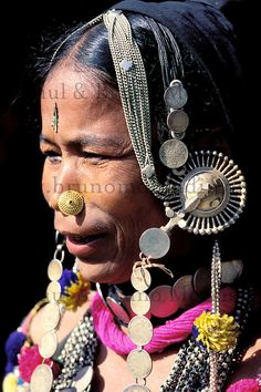 View top-quality stock photos of Nepal Terai Rana Tharu Woman Closeup. Find premium, high-resolution stock photography at Getty Images. Tribal Jewelry, Indian Jewelry, Nepal, Body Adornment, Historical Costume, Divine Feminine, People Around The World, Traditional Dresses, Body Art