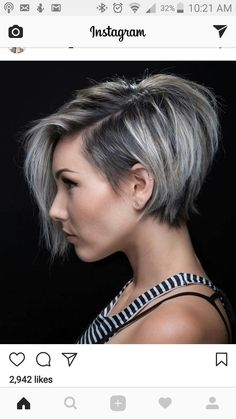 50 Short Black And Grey Ombre Hairstyles 53