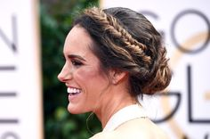 Pin for Later: Up Your Braid Game With the Best Plaits of Red Carpet Season Louise Roe at the Golden Globes 2015 But from the side, you could see how the fishtail braids extended into a fashion-forward chignon.