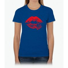 Lips Crop Womens T-Shirt