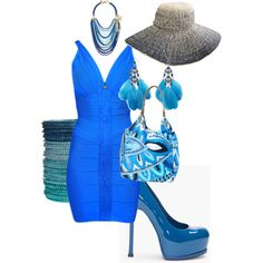 True Blue, created by jeannie-russell on Polyvore