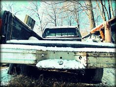 Just a beat up pick-up truck and snow