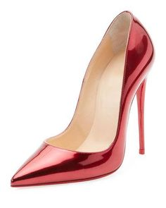 e18bc7eda79a Christian Louboutin So Kate Patent Red Sole Pumps