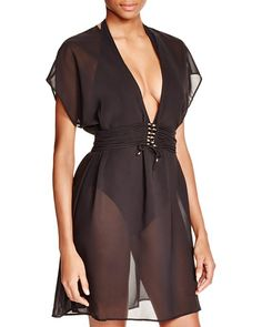 Gottex Jezebel Beach Dress Swim Cover Up Black $195  SHIPS FREE or PICK UP IN SANTA MONICA * BEST PRICE GUARANTEED * PURCHASE HERE: http://piermart.com/gottex-jezebel-beach-dress-swim-cover-up-black-195-ships-free/
