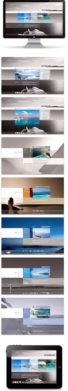 Katikies Hotels by Mozaik, via Behance