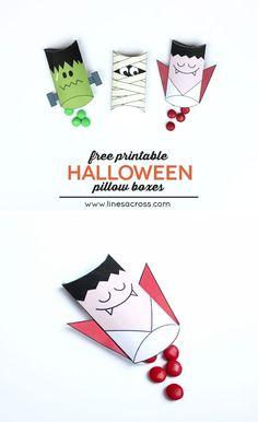 Free Printable Halloween Pillow Boxes
