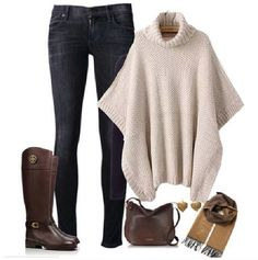 Great outfit idea for chilly days.Stay warm...but look chic & feel comfortable while doing so. Visit www.LenMelekard.com/outfitideas.html for purchasing information.