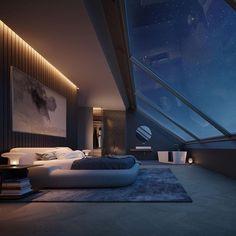 Attic Bedrooms, Home Bedroom, Bedroom Doors, Master Bedroom, Warm Bedroom Colors, A Frame House, Bathroom Design Luxury, Cozy Room, Custom Homes