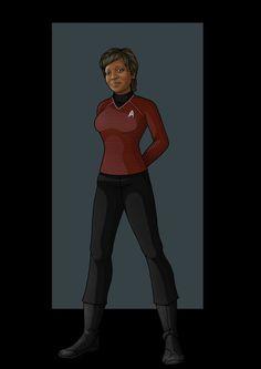 Lieutenant Commander Joyce Filars, chief engineer on board the saratoga.