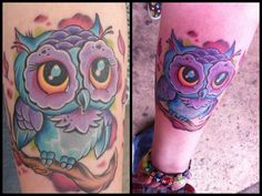Super Cute Owl Tat done by Don Preston of Lost Soul Tattoo in Spring City, Pennsylvania