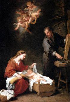 Bartolomé Esteban Murillo (Pérez) - La sainte famille