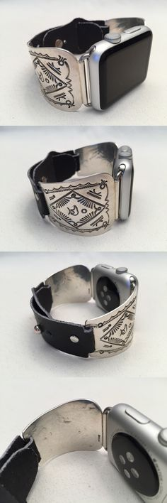 Watches 98502: Handcrafted Native American Sterling Silver Apple Watch Band 42Mm -> BUY IT NOW ONLY: $360 on eBay!