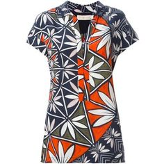 Tory Burch floral print shortsleeved shirt