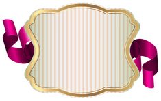 Label with Ribbon PNG Clip Art Image