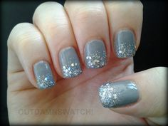 amazing Trends For > Gradient Glitter Nails