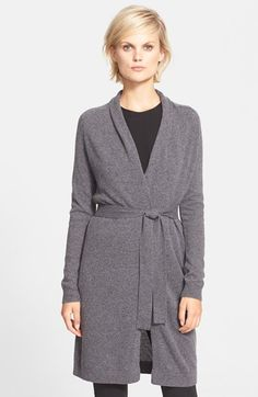 18e66a87573 Theory 'Ashtry' Belted Cashmere Cardigan available at #Nordstrom Cashmere  Cardigan, Sweater Cardigan