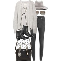 A fashion look from November 2015 featuring Cheap Monday jeans, Yves Saint Laurent ankle booties and Alexander McQueen shoulder bags. Browse and shop related l…