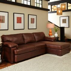 e65fa4262555 Marciano Leather Sectional Extra Bedroom
