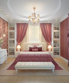 Browse images of classic Bedroom designs by design studio by Mariya Rubleva. Fin… Browse images of classic Bedroom designs by design studio by Mariya Rubleva. Find the best photos for ideas & inspiration to create your perfect home. Room Design Bedroom, Luxury Bedroom Design, Girl Bedroom Designs, Home Room Design, Room Ideas Bedroom, Home Decor Bedroom, Interior Design, Bed Room, Interior Ideas