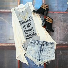 Shop our Spirit Animal Graphic Tank for just $17! FREE SHIPPING ALWAYS! #whiskey