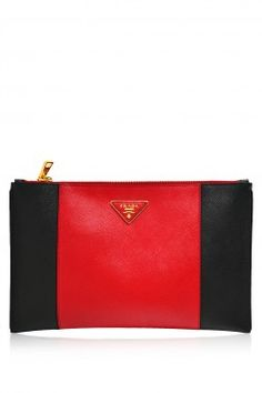 -Prada- Saffiano Leather Clutch  Prada  Clutches e2d65d4aaae4b