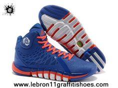 Fashion Q33233 Adidas Derrick Rose 773 II Blue Orange White