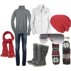 """Snow day"" by jnifr on Polyvore.  Love this for winter."