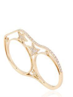 NESSA - K.O. GOLD AND DIAMOND STARS RING - LUISAVIAROMA - LUXURY SHOPPING WORLDWIDE SHIPPING - FLORENCE