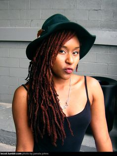 dreadlocks gallery long red dreadlocks with a hat – thirstyroots.com: Black Hairstyles and Hair Care