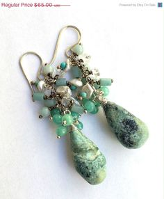 High End Handmade Jewellery 30 Off Turquoise Cer Earrings By Doolittlejewelry Bridal Necklaces
