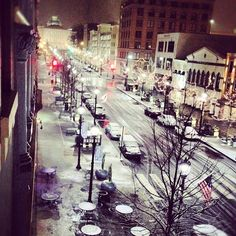 Holly Aiken took a cool picture of Raleigh's first snow of the season