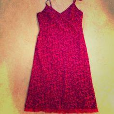 Express nwot summer pink flowered dress with lace Adj straps pink flower dress with lace on the bottom Express Dresses
