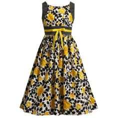 Amazon.com: Size-12.5 BNJ-1386R YELLOW BLACK WHITE BOW FRONT ROSE PRINT Special Occasion Flower Girl Spring Summer Party Dress,R81386 Bonnie Jean Girl PLUS SIZE: Clothing