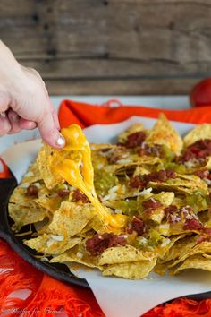 Easy Cheesy Nachos - Gather for Bread Best Pasta Recipes, Soup Recipes, Quick Appetizers, Appetizer Recipes, Cheesy Nachos, Fontina Cheese, Family Meals, Holiday Recipes, Easy Meals