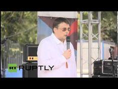 02 08 2014, Москва  Евгений Фёдоров на акции в поддержку Новороссии