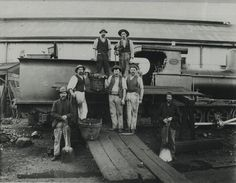 Railway Workers at the Station Petersburg South Australia 1880