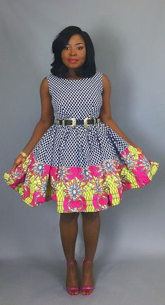African mixed print dressAfrican clothingAfrican dresswax