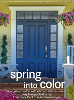 Want a quick, easy, and gorgeous colorful door update for Spring? With Front Door Paint by Modern Masters, you can paint and close your door in just a few hours and the ultimate fade resistance will keep the color looking fresh for years. No extra sealer is needed and the water base formula is a breeze to clean up. It's time to spring into color and adore your front door!