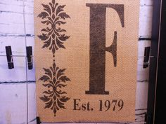 Burlap wedding decor wall decor with family by LaRaeBoutique