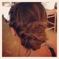 Beautiful Hawaii Beachy Wedding Hair Updo by Delish - Modern Hawaii Makeup, Hair Updo, Wedding Beauty, Wedding Inspiration, Wedding Ideas, Updos, Getting Married, Delish, Wedding Hairstyles
