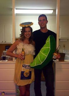 Corona and Lime DIY Couples Halloween Costume Idea