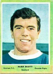 Alex Scott of Everton in 1964.