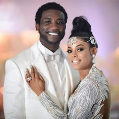 Gucci Mane'ss Wife , Keyshia Ka'oir Allegedly Has Three Secret Children In Jamaica And She Lied About Her Age (Photos) - 24 Loaded News Black Couples, Cute Couples, Gucci Mane Wedding, Wedding Dress With Feathers, All White Wedding, Bridal Gowns, Wedding Dresses, Bridal Hair, Dressing
