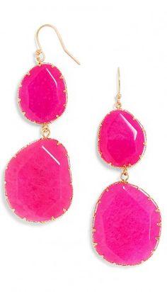 Pretty pink boho drops