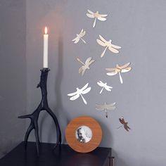 Mirror Birds/Butterflies/Dragonflies Wall Art por StudioLiscious, $38.00