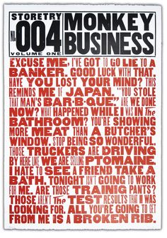 Storetry No. 004 Monkey Business.  Brilliant.