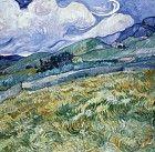 1889 Vincent Van Gogh   Paysage montagneux derrière Saint-Paul-de-Mausole  Huile sur Toile    70x88 cm  Copenhague, Ny Calsberg Glyptotek